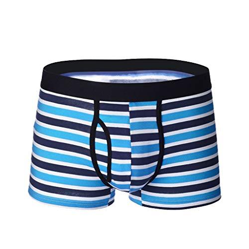 Timitai Boxer Briefs Herren Streifen Unterwäsche Soft Breathable Short Sexy Briefs -