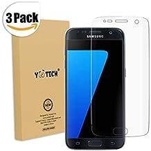 Galaxy S7 Protector de pantalla [cobertura total], Yootech [3 Unidades] [anti-bubble] [HD Clear] Protector de pantalla para Samsung Galaxy S7, garantía de por vida [no para Galaxy S7 Edge]