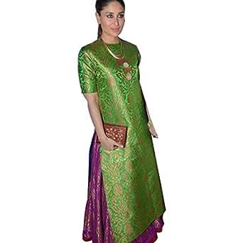 Karina Kapoor Green Jaquard salwar suite