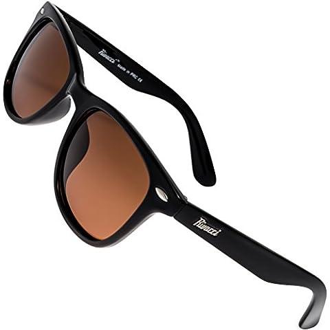 Gafas de Sol de Moda Polarizadas estilo Wayfarer y Aviador - Outlet Sunglasses - Marca Retro / Vintage Baratas para Mujer y Hombre - Deportivas - Funda y Toallita Limpiadora GRATIS