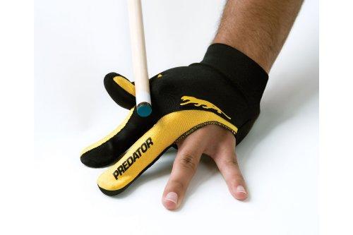 Handschuh Predator, 3-Finger, schwarz-gelb, S&M