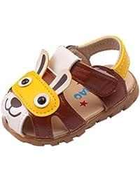 Huhua-Baby Sandal Sandals for Boys, Sandali Bambini Rosa Hot rosa, Giallo (Yellow), 37 1/3 EU