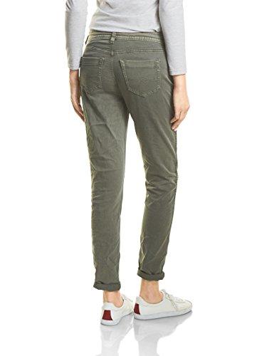 Street One, Jeans Slim Donna Grün (Sportive Soil Green Wash 11314)