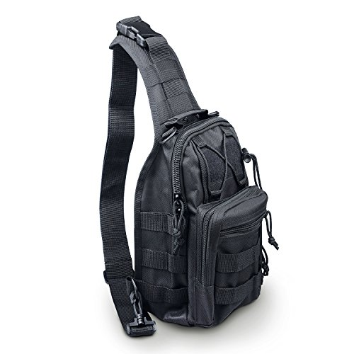 e63b76d4a1947 LC Prime Tactical Backpack Shoulder Diagonal Bag Chest Pack Sling Bag  Crossbody Rucksack Canvas Outdoor Sports
