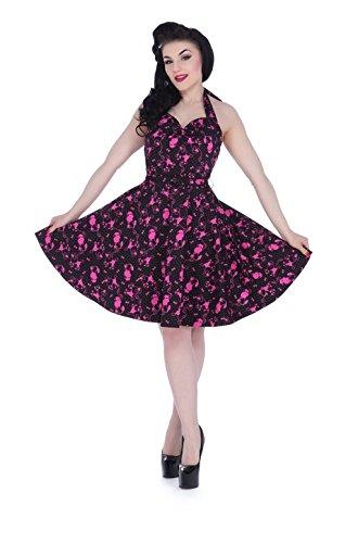 Voodoo Vixen - Prescilla Pink Poodle Retro Halter Dress L