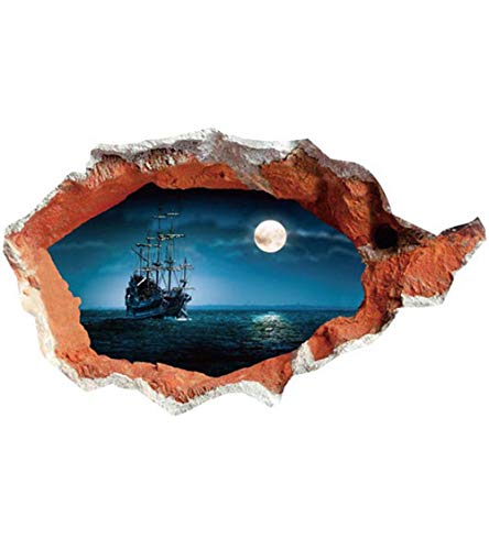 Wandgemälde Dekor Haus Dekoration Ocean 3D Effekt Wandaufkleber Hotel Flur Heimwerker Aufkleber Wand außerhalb der 70X100cm Vinyl Aufkleber Wandblider ()