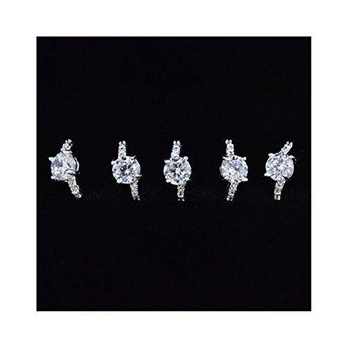Générique 2Pcs Mini 3D Studs Déco Nail Art Gel UV Pierre de Rhin