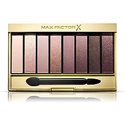 Max Factor Masterpiece Nude Palette Rose Nudes 03 - Lidschatten-Palette mit 8 rosafarbenen und neutralen Tönen mit seidig-mattem und schimmerndem Finish