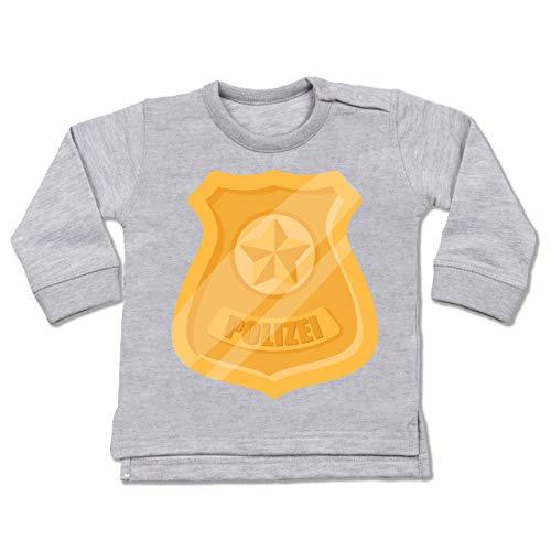 Shirtracer Karneval und Fasching Baby - Polizei Marke Karneval Kostüm - 18-24 Monate - Grau meliert - BZ31 - Baby Pullover