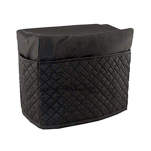 Matedepreso Handgefertigt Nähmaschine Staubdicht Abdeckung mit Taschen für Meisten Standard Nähmaschinen und Nähen Zubehör - Schwarz, Free Size (Nähmaschine Staub-abdeckung)