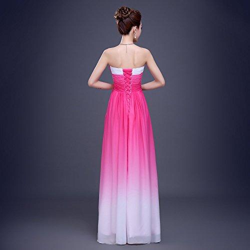 Bridal_Mall - Robe - Trapèze - Sans Manche - Femme Rot0203