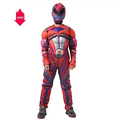 LJYA Kinder Halloween Kostüme Muskel Außergewöhnliches Team Cosplay Bühnenkleider Enthält Kopfbedeckungen,S