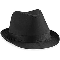 Beechfield - Sombrero fedora (unisex) negro negro Talla:L/XL