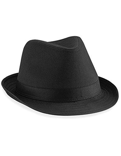 Beechfield Unisex Hut Fedora (L/XL) (Schwarz) Large / X-Large,Schwarz (Blues Brothers Kostüm)