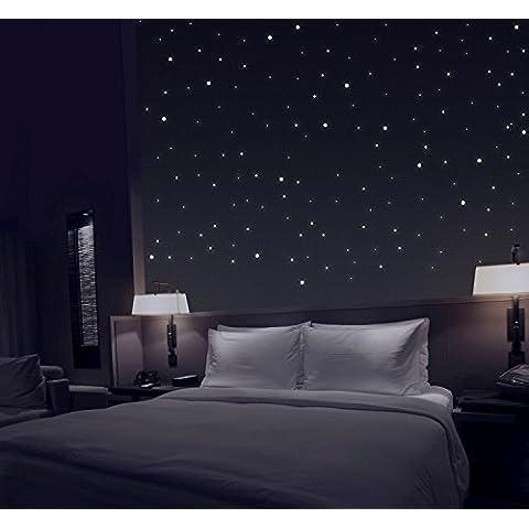 TALINU cielo stellato da 277 autoadesivi luminosi con luminosità extra forte e lunga durata di illuminazione | 2 anni di garanzia di soddisfazione | stelle luminose, adesivi luminosi, adesivi fluorescenti da parete, adesivi riflettenti