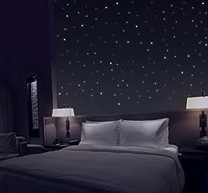 TALINU Sternenhimmel aus 277 selbstklebenden Leuchtpunkten mit extra starker Leuchtkraft