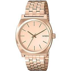 Nixon Reloj Analógico de Cuarzo Unisex con Correa de Acero Inoxidable Recubierto – A045897-00