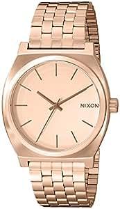 Nixon Unisex-Armbanduhr The Time Teller Analog Quarz Edelstahl beschichtet A045897-00