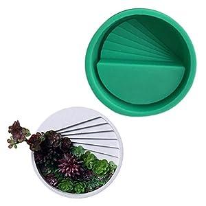 Gecorid Multi-Fleisch Blumentopf Silikonform, Zementputz Blumentopf Silikonform DIY Quadratische Zementblume Klares Wasser Beton Flasche Formen