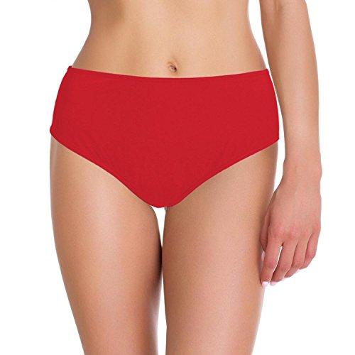 Aquarti Damen Bikini-Hose Slip Badehose, Farbe: Rot, Größe: 42