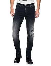 Salsa - Jeans noirs Slender avec déchirures - Homme