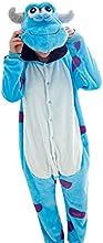 Moollyfox Unisexo Kigurumi Pijama Adulto Disfraz de halloween para cosplay Homewear S Azul Blanco