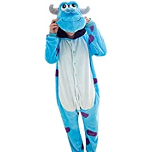 Molly Kigurumi Pijamas Traje Disfraz Animal Adulto Animal Pyjamas Cosplay Homewear M Azul Blanco