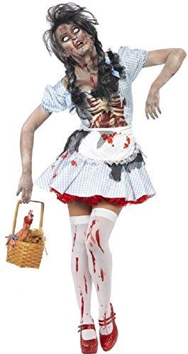 damen-zombie Dorothy Märchen Latex Leichnam Halloween Kostüm - Blau, ()