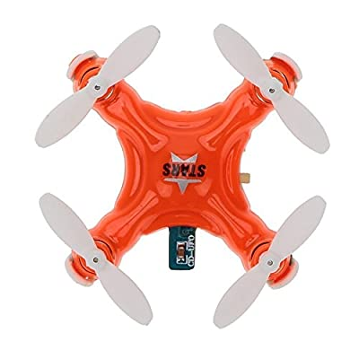 Hobbylane Cheerson CX-STARS Mini Drone, 2.4G 4CH 6 Axis Gyro Headless Mode 3D Flip Mini RC Quadcopter w/LED light, World Smallest Drone for Teens Adults Drone Enthusiasts