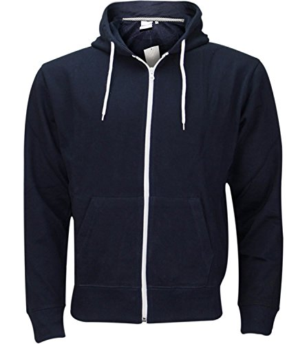 Mens Zip Up Hoody Jacket Navy/L