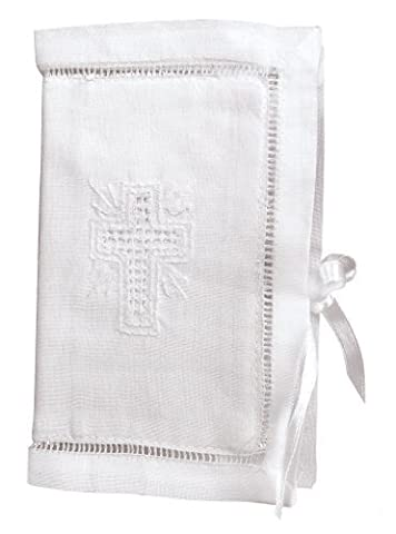 Stephan Baby Keepsake Bible with Embroidered Cover and Ribbon-Tie Closure, White by Stephan Baby