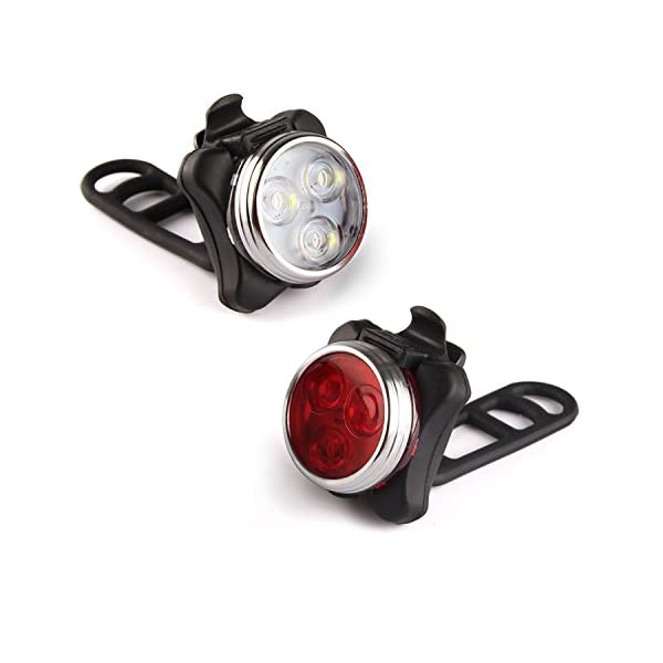Rechargeable LED Bike Lights Set kit