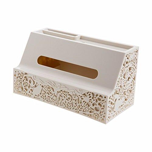 MEIYANGYANG Hohle Kunststoff Gewebe Box Home Couchtisch Pumpen, Wohnzimmer Desktop Papier, Beige 25,4 * 12,7 * 14 Cm - Wicker Couchtisch Große