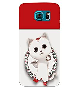 PrintDhaba Kitty D-4708 Back Case Cover for SAMSUNG GALAXY S6 EDGE (Multi-Coloured)