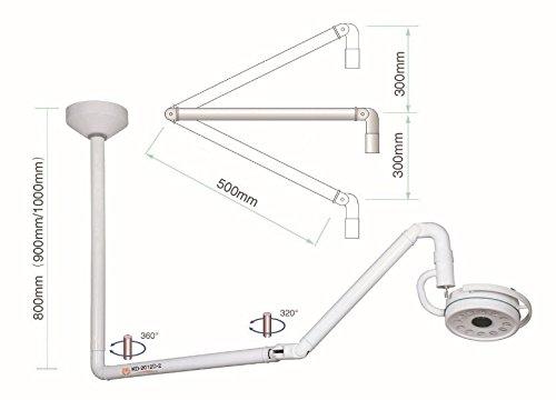 bonew-oral 36W 360rotación lámpara de luz LED para techo quirúrgico examen Shadowless 800mm