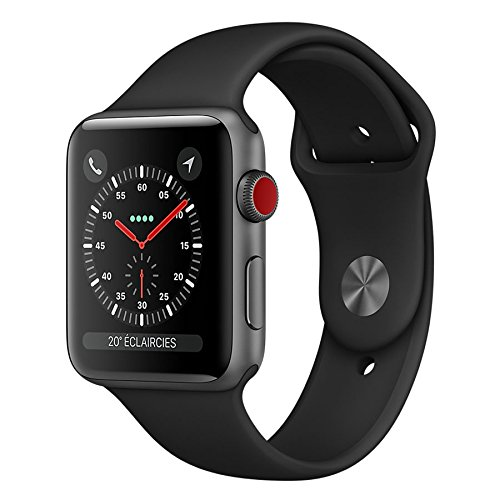 Apple Watch Series 3 4G Boitier 38mm en Aluminium