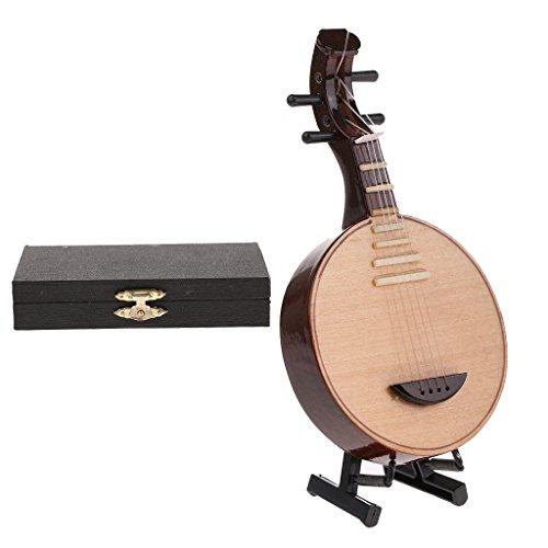 Homyl Mini Musikinstrument Modell mit Box & Ständer, Zubehör Für 1: 6 Aktion Figuren / Puppen - Yueqin