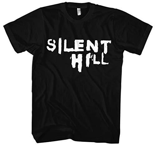 Silent Hill T-Shirt | Gamer | Nightmare | Freitag der 13 | Horror | Bone | Skull | Kostüm | Halloween | Horror | Geschenk | Männer | Herrn | ()