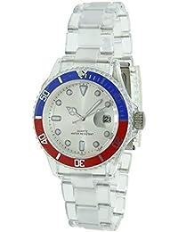 681dd6eff7ba Christian Gar Reloj Analogico Unisex Caja De Plastico Esfera Color Plateado