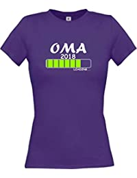 ShirtInStyle Lady-Shirt Oma 2018 Loading... viele Farben, Größen XS-XL