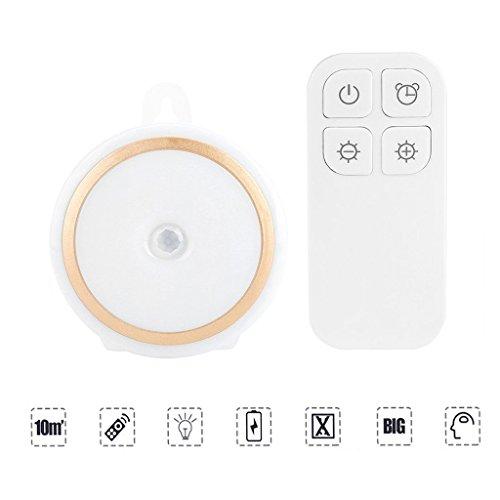 YFish Lámpara Nocturna Recargable LED Infrarrojo Luz Inalámbrica con 5 Bombillas Control Remoto Light Suave Protege los Ojos Inteligente en Dormitorio Habitación para Niños Bebés
