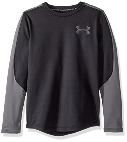 Under Armour Jungen ColdGear Crew, Jungen, Boys' ColdGear Armour Crew, Black (001)/Graphite, Jugend Large (Under Armour-jugend-cold Gear)