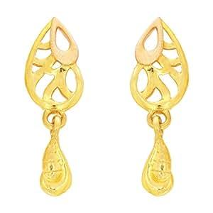 Kalyan Jewellers 22KT Yellow Gold Stud Earrings for Women