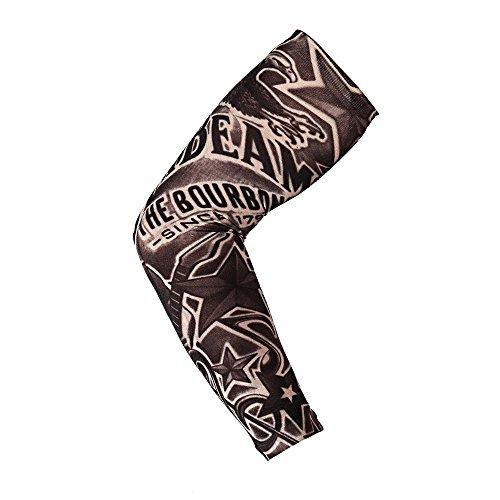 Arm Ärmel Temporäre Gefälschte Ärmel Ärmeln Tattoo Armlinge , 1 PCS Outdoor UV Schutz Arm Sleeve Stilvolle elastische Nylon temporäre Fake Tattoo für Jungen und Mädchen (I)