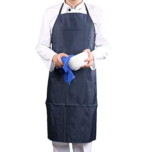 Tablier de cuisine imperméable Pvc tablier homme homme tablier durable bavoir cuisinier barbecue jardinage atelier-un 26x39inch pour la cuisine, la cuisson et le jardinage dans l