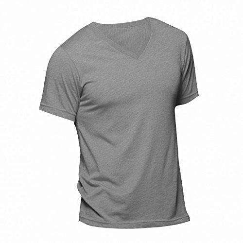 Canvas Triblend T-Shirt für Männer Kohle