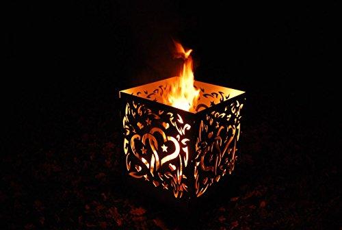 *Feuerschale Feuerstelle Feuerkorb Feuertonne Terassenfeuer Wärmestrahler Herz*