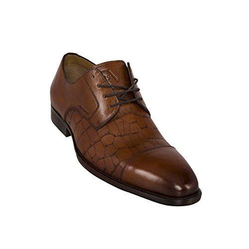 19V69 Versace 1969 Leder-Business-Schuhe V48 (Modell: C145 - Herren, braun; Größe: 44) FBA