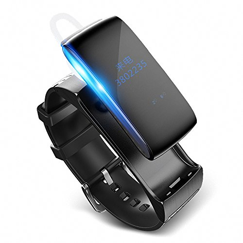 Sannii Smart Band Talkband Bluetooth Uhr Armband Sound Headset Digital Handgelenk Kalorien Schrittzähler Track Fitness Schlaf Monitor - Sound Id Bluetooth
