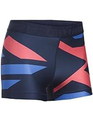 Under Armour 1295166-410 - Pantalones cortos para mujer, color Multicolor (Midnight Navy 410/Metallic Silver), talla Medium